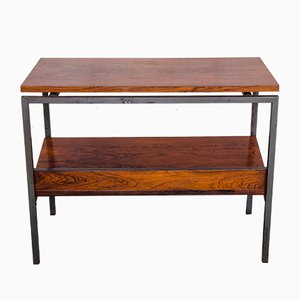 Danish Rosewood Side Table with Magazine Rack, 1960s