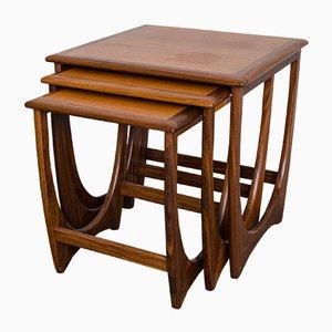 Tavolini a incastro Astro di Kai Kristiansen per G-Plan, anni '60