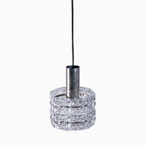 Lámpara colgante vintage geométrica con prismas de cristal de Kinkeldey