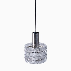 Vintage Geometric Crystal Prism Pendant Light from Kinkeldey