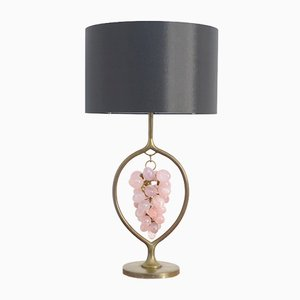 Lampe de Table Vintage en Laiton et en Quartz
