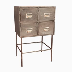 Vintage Industrial Iron Chest of Drawers