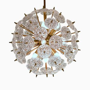 Sputnik Crystal Discs Ceiling Light from Val Saint Lambert, 1970s