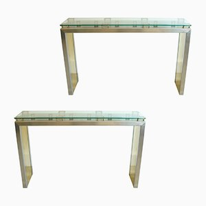 Vintage Sculptural Consoles, Set of 2