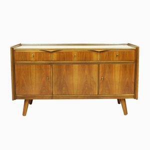 German Walnut Desk & Sideboard, 1950s