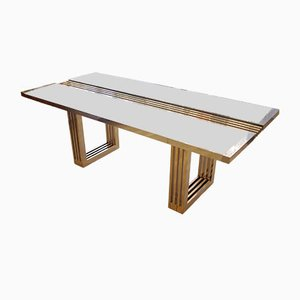 Tavolo in metallo cromato e acciaio di Romeo Rega, 1979