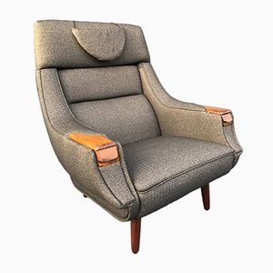 Rosewood Lounge Chair by H.W. Klein, 1960s