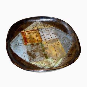 Ceramic Plate by Alexandre Kostanda, 1950s