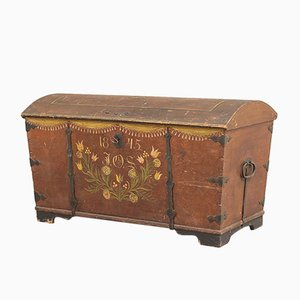 Antique Swedish Wedding Chest, 1845