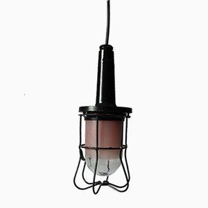 Lámpara colgante industrial vintage de Prodryn, 1979