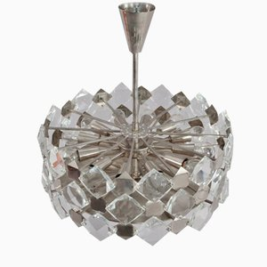 Faceted Crystal Glass Hanging Chandelier from Bakalowits and Söhne, 1960