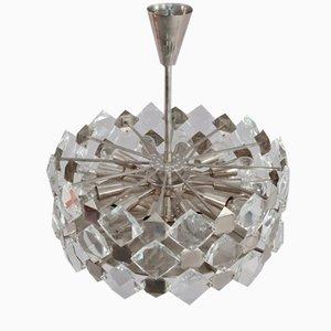 Lámpara de araña colgante de cristal faceteado de Bakalowits and Söhne, 1960