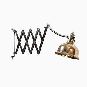 Lámpara acordeón Art Déco austriaca grande de Pragan, años 30