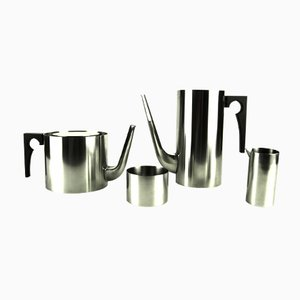 Servizio da tè / caffè Cylinda vintage di Arne Jacobsen per Stelton