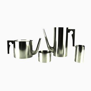 Set de Thé et Café Vintage Cylinda-Line par Arne Jacobsen pour Stelton