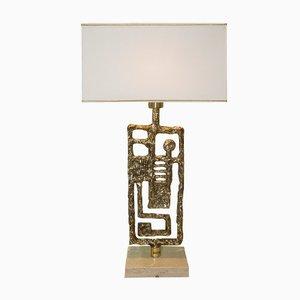 Lampada vintage in bronzo dorato di Angelo Brotto per Esperia