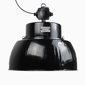 Schwarze Emaillierte Vintage ORP-125E Hängelampe von Predom-Mesko