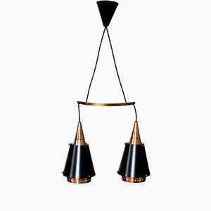 Lámpara colgante escandinava vintage de cobre