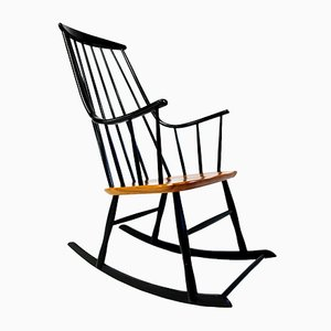 Swedish Grandessa Bohem 2402 Rocking Chair by Lena Larsson for Nesto, 1958