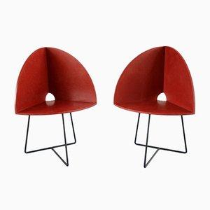 Sillas Bucket modernas de Chen Chen & Kai Williams. Juego de 2