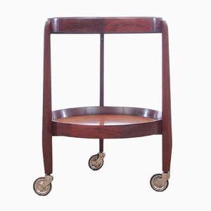 Mid-Century Modern Teak Serving Cart by Uno Kristiansson, 1950s