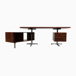 Model T96 Executive Rosewood Desk by Osvaldo Borsani for Tecno, 1950s