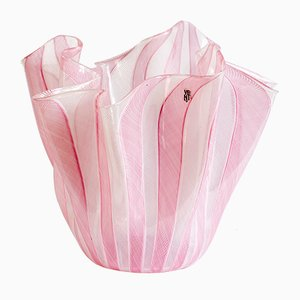 Handkerchief Glass Vase by Fulvio Bianconi for Venini, 1950s