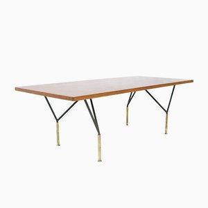 Table Basse en Teck et en Fer par Carlo de Carli pour Cassina , Italie, 1950s