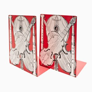 Musical Instruments Bookends by Piero Fornasetti for Fornasetti Milano, 1950s, Set of 2