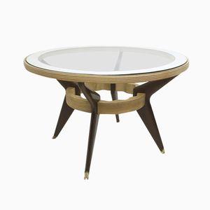 Tisch aus Mahagoni, Ahorn & Glas, 1940er