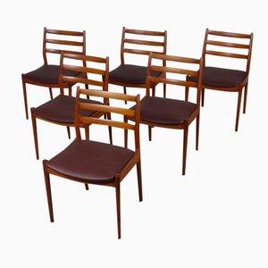 Modell 191 Esszimmerstühlen von Arne Vodder für Cado, 1965, 6er Set