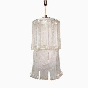 Lámpara de techo italiana de Mazzega, años 70