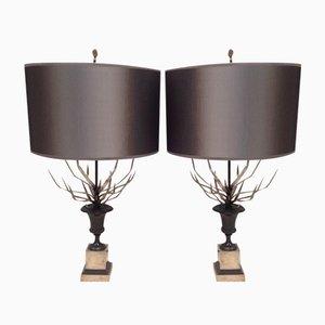 Lampes de Bureau par Maison Charles, 1960, Set de 2