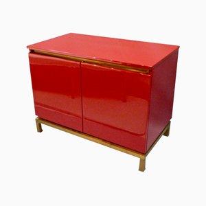 Mueble auxiliar lacado de Guy Lefevre para Maison Jansen, años 70