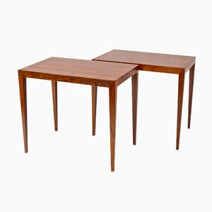 Mid-Century Brazilian Rosewood Side Tables by Severin Hansen, Set of 2