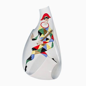Harlequin Ceramic Wall Lamp from C.I.A. Manna, 1950s
