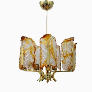 Glass Chandelier by Carl Fagerlund for Orrefors, 1960s