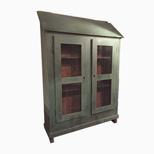 Vintage French Painted Wooden Armoire
