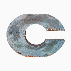 Large Industrial Metal Letter C, 1950s