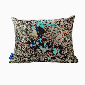Black Multi Crystalline Rectangular Cushion from Other Kingdom