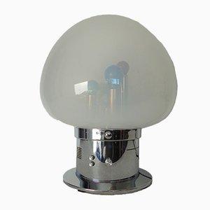 Italienische Geräuschaktivierte Lampe aus Mundgeblasenem Glas & Chrom, 1970er