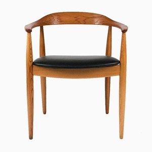 Chaise Ronde en Orme par Illum Wikkelso, 1960s