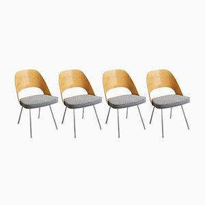 Executive Stühle von Eero Saarinen für Knoll Wohnbedarf, 1950er, 4er Set