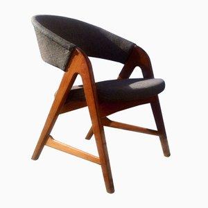 Dänischer Vintage Saw-Bench Armlehnstuhl von Arne Wahl Iversen für Sorø, 1957