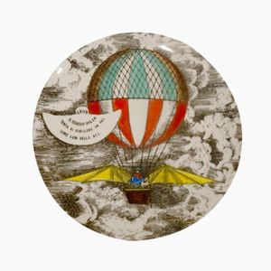 Mongolfière No. 3 Dining Plate by Piero Fornasetti, 1955