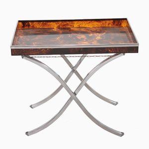 Tavolino vassoio da maggiordomo, anni '70