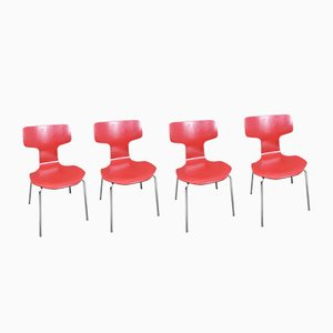 Model 3103 Chairs by Arne Jacobsen for Fritz Hansen, 1960s, Set of 4