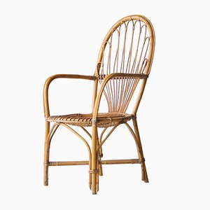 Vintage French Bamboo Armchair