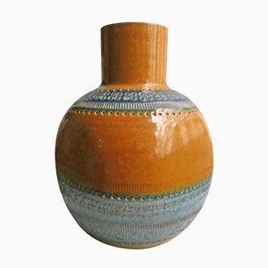 Vase Ocre par Aldo Londi pour Bitossi, Italie