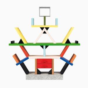 Bibliothèque Carlton Scandinave par Ettore Sottsass pour Memphis Milano